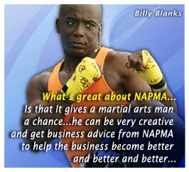 NAPMA MArtial Arts Testimonials -  Billy Blanks